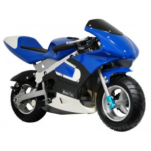 MotoTec Gas Pocket Bike 33cc Two Stroke Comes in Black or Blue