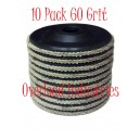 Flap Disc 4-1/2 inch 4x1/2 Flap Disk 10 Pack Overload Industries 60 Grit Grinder Grinding Wheel 7/8