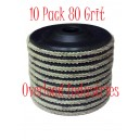 Flap Disc 4-1/2 inch 4x1/2 Flap Disk 10 Pack Overload Industries 80 Grit Grinder Grinding Wheel 7/8