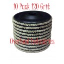 Flap Disc 4-1/2 inch 4x1/2 Flap Disk 10 Pack Overload Industries 120 Grit Grinder Grinding Wheel 7/8
