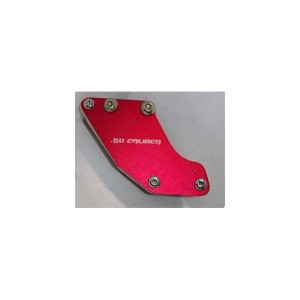 Billet Aluminum Chain guide - Red