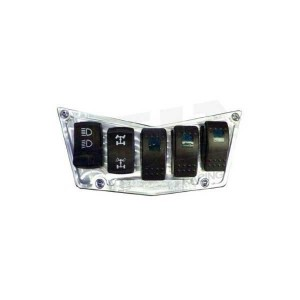 5 Switch Dash Panel Silver